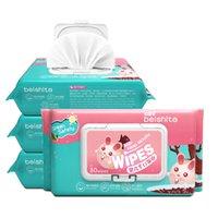 80pcs / saco do bebê Wet Wipes Natural Pele Sensível química livre com uma tampa 80 Tools Wet Wipes cor sólida Baby Care Mão Boca Wipes