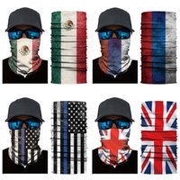 Practical National Flag Pattern Head Scarf Riding Mask Polye...