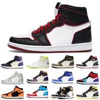 1S الرجال أحذية كرة السلة محطمة اللوحة الخلفية عشبة jobsian الأرجواني سلالة 1 رجل الأزياء المدرب sneakeres الأحذية الرياضية 3645
