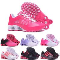 best website 761ec 66e61 Pas cher Hight Qualité Nouvelles Femmes Shox Avenue NZ Sports Chaussures De  Course Noir Or Hommes