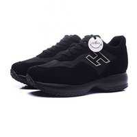 New Hogans sneakers men Suede designer shoes black casual sh...