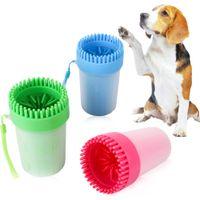 Dog paw cleaner tragbare Haustier Fußdusche pet Reinigungsbürste cup Hundefüß cleaner weichen Silikon-Bürste für schlammige Füße Größe mittel klein