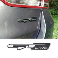 무료 배송 2pcs GT 라인 로고 엠블럼 기아 옵티마 K5 Stinger K3 프론트 그릴 트렁크 트림 데칼에 대한 유니버셜 자동차 스티커