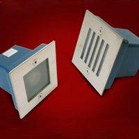 30 adet AC85-265V 1 W Gömme LED Aplik Merdiven Işık Duvar Işıkları Adım Koridor Lambaları Gömülü Köşe Duvarlar Aydınlatma Ip67 Escalera