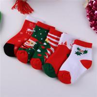 새로운 가을 겨울 아기 크리스마스 양말 어린이 소년 소녀 발목 양말 아동 양말 어린이 발 따뜻한면 양말 15305