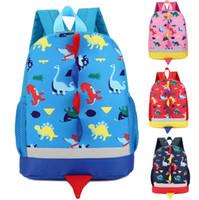 Sacs à dos pour enfants Dinosaur imprimés Shoolbag Bébés filles de l'école pour tout-petits garçons à dos Sacs Filles Sac épaules Voyage Dernières 4 Designs DHW2752