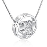Hart hanger ketting bestseller zilver en 18 k gouden jewlery nikkel gratis strass fashion neckless for women yd0077