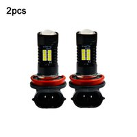 2pcs 12V 21W H11 3030 21SMD LED Auto Car Fog Light Bulb 6000K White Light Projector High Power Driving Lamp Signal Fog Lighs