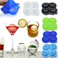 4 balles Sphère Whisky Silicon Silicon Cube Cube Moule Moule Sphere Moule Brique Plateau Rond Bar Cocktails Cocktails Diy