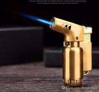 Мини струйный факел Пистолет Распылитель Компактный Бутан Зажигалка Факел Зажигалка 1300 C Ветрозащитный Металлический прикуриватель для сигарет DHL бесплатно