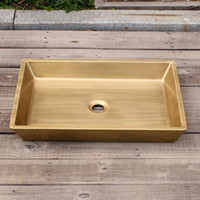 Brass new penny Rectanglar vanity sink smooth surface bathro...