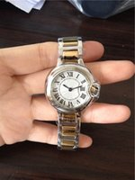 Nueva moda Reloj de las mujeres pulsera de acero inoxidable esfera blanca relojes Reloj movimiento de cuarzo relojes 062
