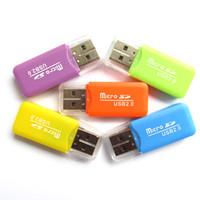 VIP مخصص 2019 بالجملة قارئ بطاقة ذاكرة الهاتف المحمول TF قارئ بطاقة صغيرة متعددة الأغراض عالية السرعة قارئ بطاقة SD USB