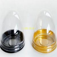 250pcs transparenter Plastikmondkuchen-Kasten-Hauben-Kuchen-Kasten-Behälter-Eigelb-klarer Verpackungs-Kasten Freies Verschiffen