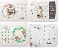 Nuovo bambino neonato fotografia sfondo commemorazione coperte Puntelli fotografici Fiore Angolo ala Unicorno Coperta in pile fotografico