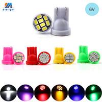 YM E-Bright 100шт T10 W5W 1206 8 SMD 6В 6.3V AC DC LED Light бесполярности автомобиля Стайлинг 194 168 Авто лампы