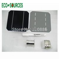 Freeshipping 40 PC 5x5 학년 폴리 태양 전지 + 플럭스 펜 + 탭 와이어 + 버스 와이어 태양 전지 DIY 100w 태양 전지 패널