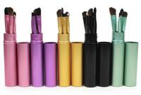 5 teile / satz Professionelle Pony Haar Lidschatten Pinsel Set Make-Up Pinsel Für Augen Make-Up Tool Kit Mit Rundrohr Schnelles verschiffen