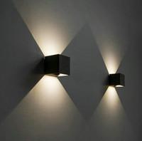 Dimmable 10W COB IP65 Applique murale d'extérieur Cube à LED, Monté en surface réglable, Applique extérieure LED, Applique murale haut et bas