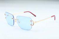 2019 новый завод прямые роскошные моды солнцезащитные очки 4193830 простая большая коробка когтя металлические ультра светлые солнцезащитные очки