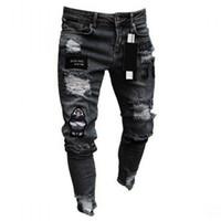 Moda Erkekler Jeans Erkek İnce Günlük Pantolon Elastik Pantolon Açık Mavi Fit Gevşek Pamuk Denim Jeans Erkek İçin