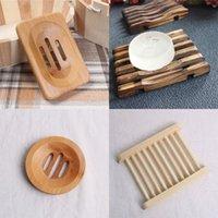 10 styls Mixed Natural Bamboo e pratos de sabão de madeira Soap Tray Titular Wash Duche armazenamento Bath Shower Placa Caso Banho Acessórios