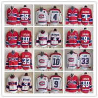 저렴한 빈티지 몬트리올 Canadiens 하키 10 남자 Lafleur 4 Jean Beliveau 9 Maurice Richard 29 Ken Dryden 33 Patrick Roy 자수 유니폼
