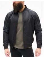 معطف رجالي حامل الياقة كم طويل الرجال تشغيل البدلة مع مصمم زيبر الأسود سليم ذكر خارجية Bult الرياضة