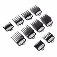 10pcs 1.5mm-25mm Guía del peine del pelo de las podadoras límite Adjunto Tamaño del peluquero reemplazo Cuidado Styling Juego de herramientas de pelo