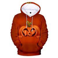Manga del palo de Halloween para hombre sudaderas invierno gruesa 3D Digital Impreso larga con capucha Parejas sudaderas de diseño de moda para hombre con capucha