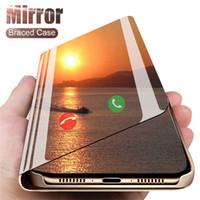 Smart Miroir Cas De Téléphone Pour iphone SE 11 Pro Max Xs Xr x De luxe clair Flip Étui En Cuir Pour iphone 7 8 Plus 6 s 6