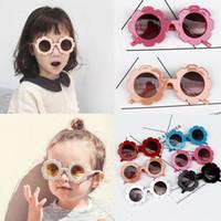 5 قطعة / الوحدة لطيف عباد الشمس الأطفال أطفال uv400 نظارات شمسية أزياء طفلة المضادة للأشعة فوق البنفسجية نظارات شمسية في الهواء الطلق نظارات الملحقات