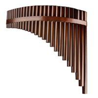 竹製楽器25パイプパンフルート左手Cキー高品質パンパイプ木管楽器竹パンフルート