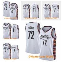Nouveau 11 Kyrie Irving BrooklynFiletsJersey 7 Kevin Durant 72 Black Biggie City White Edition Route Swingman Basketball Jerseys