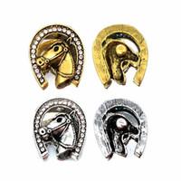 Cavallo componente w385 cristallo 3D 18mm pulsante a scatto in metallo per collana braccialetto gioielli intercambiabili Accessorie per le donne