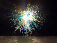 Wonderful Arte decorativa Sala Lâmpadas Pingente Chihuly Estilo 100% soprado borosilicato vidro Murano Led Candelabro Luz