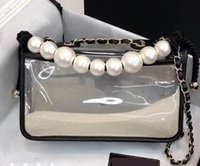 2019 Summer Hot PVC Pearl Flap Shoulder Bag 25cm Women'...