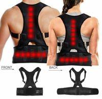 Soporte de corrector de postura magnético Cinturón de hombro trasero Cinturón de espalda ajustable Cinturones de soporte de hombro lumbar para hombres Mujeres