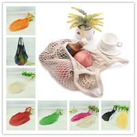 Designer-Net Bag Fruit Compras Cadeia de mantimento sacos reutilizáveis tecidos de malha de Shopper Bolsa de compras Bolsa Handbag exteriores Sacos