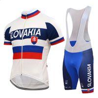 الربيع الصيف سلوفاكيا فريق الوطني الدراجات جيرسي مجموعة الرجال قصيرة الأكمام سباق الطريق سباق الملابس ارتداء 3d جل وسادة مريلة السراويل عدة