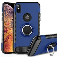 Phone Case Heavy Duty à prova de choque Dual Layer Cases Rugged Armour Titular Capa Anel para iPhone New 11 XS MAX XR X 7/8