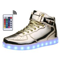KRIATIV AdultKids USB Charging High Top LED-Schuhe leuchten blinkende Sneakers Glowing Luminous Slippers für BoyGirl Light Shoe