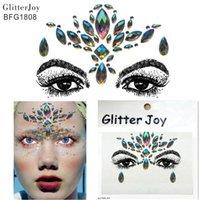 BFG1808 Смола Лицо Jewel Стикер Передний Головной Убор Краска для тела Декор Рождественский Подарок Цветок Корона Вдохновленный