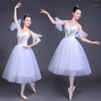 White Swan Lake Ballet Stage wear Costumes Adult Romantic Pl...