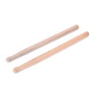 Um par 5A bordo do cilindro varas de madeira de madeira Tip Banda Musical Instrument pilões