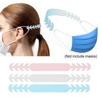 100PCS قابل للتعديل قناع الوجه مشبك الأذن الإبزيم يمكن التخلص منها قناع حلقة الأذن الوجه حبل حامل الأذن الحبل تمديد هوك