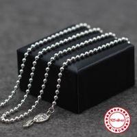 S925 Collier en argent sterling Chaîne de perle de perle personnalisée de bijoux classiques Armée longue collier Couple modèles Envoyer un cadeau d'amant