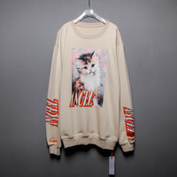 Heron Preston Angel Cat Pull Imprimé Designer Pulls Casual Hommes Hip Hop High Street Pull