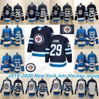 2019 Winnipeg Jets Mens Jersey 29 Patrik Laine 26 Blake Wheeler 33 Byfuglien 55 Scheifele Personalize qualquer número de jerseys de hóquei.