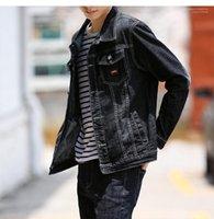 Chaqueta de diseñador primaria Color negro Vintage Denim Coat Mens Casual Cardigan chaqueta moda adolescente Mens Jeans